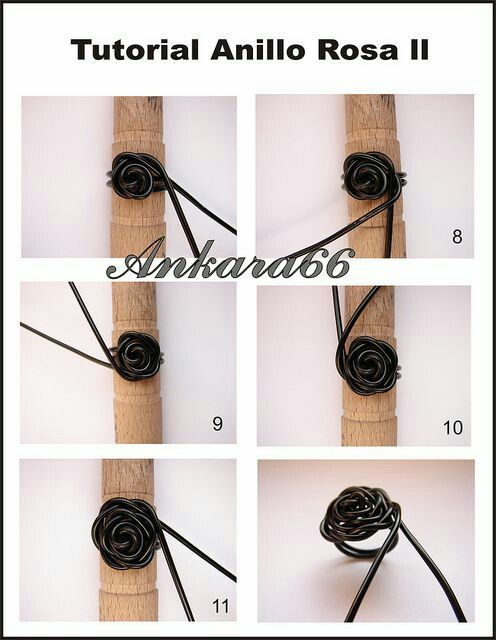 Wired Rose Ring | Συρμάτινα κοσμήματα | Pinterest | Wire wrapping ...