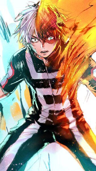 Shoto Todoroki Fire Ice My Hero Academia 4K HD Mobile