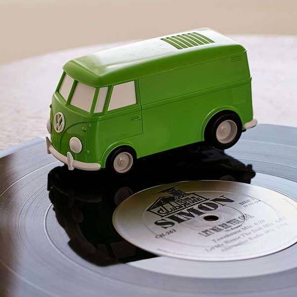 Record Runner Vw Van Shaped Portable Vinyl Record Player