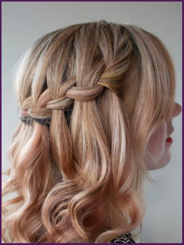 Waterfall Braid Cute Hairstyles For Medium Length