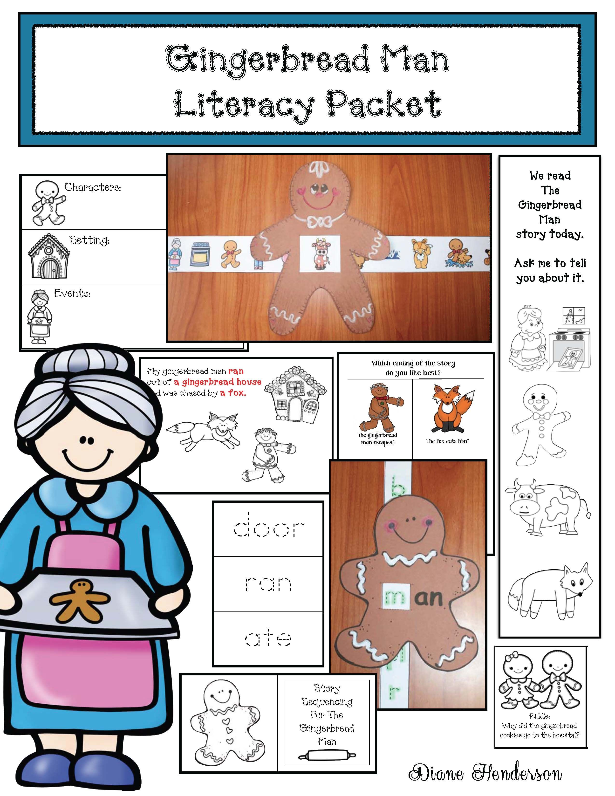 Gingerbread Literacy Packet