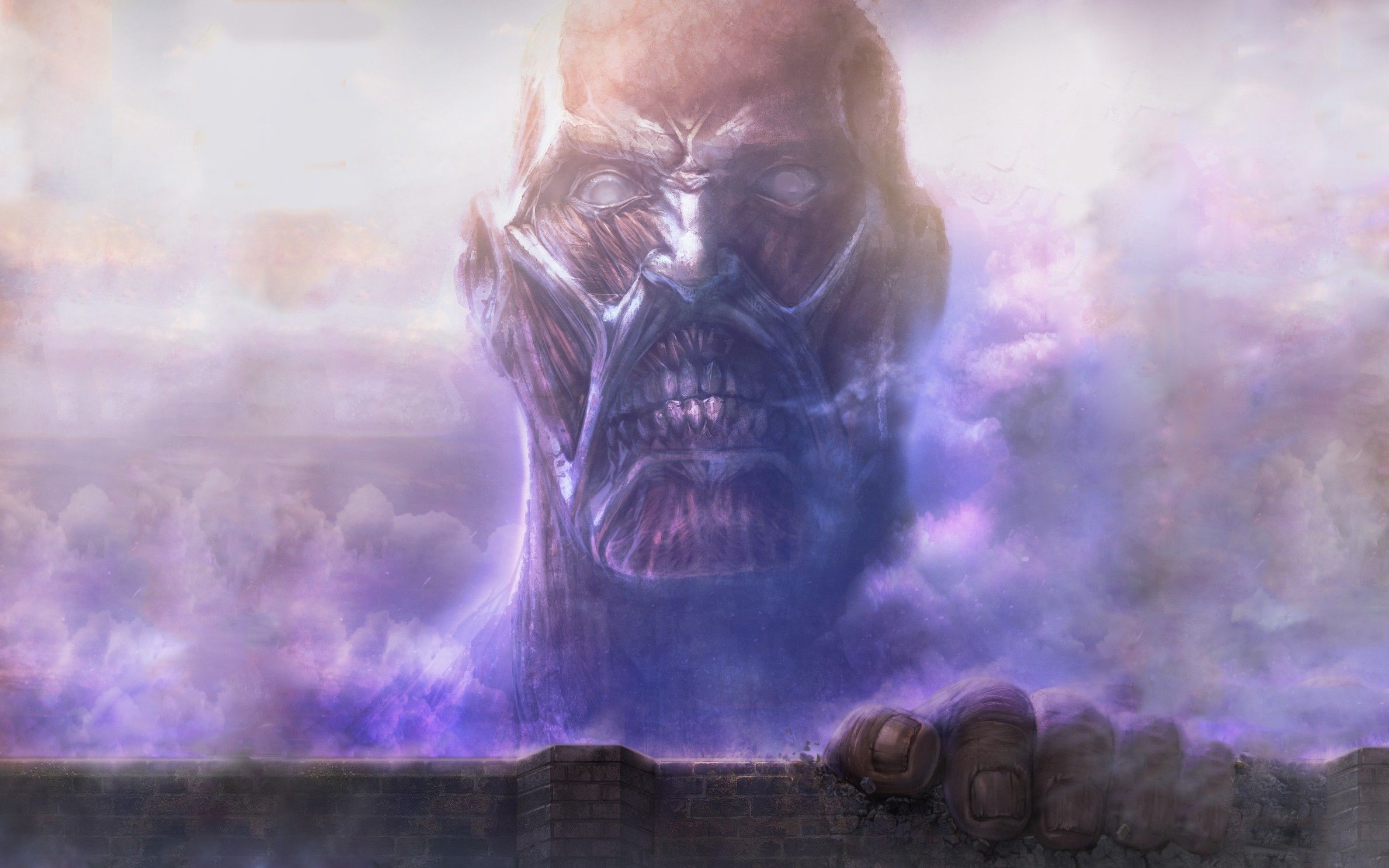 Colossal Titan Computer Wallpapers Desktop Backgrounds 2378x1486 Id 612514 Attack On Titan Attack On Titan Anime Titans