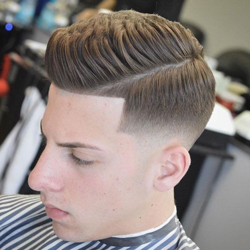 Classic Hairstyles   Quiff With Mid Bald Fade