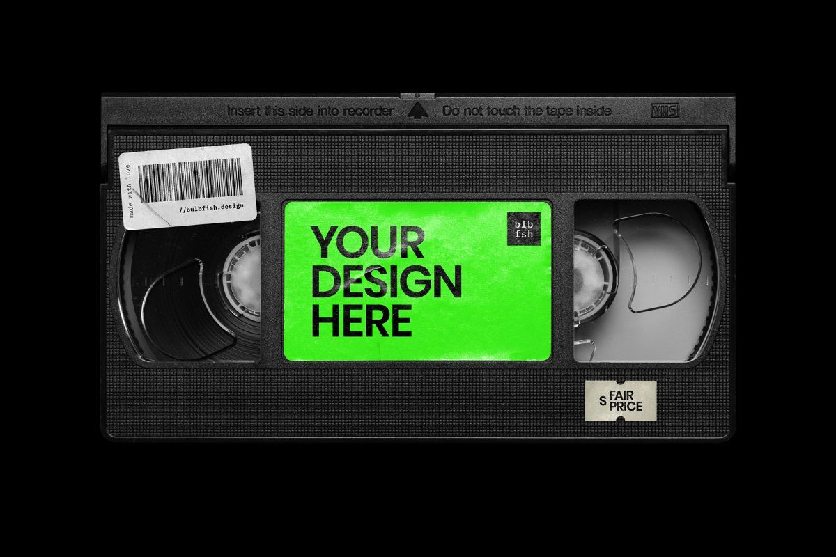 Vhs Cassette Mockup Vhs Cassette Texture Graphic Design Graphic Design Posters