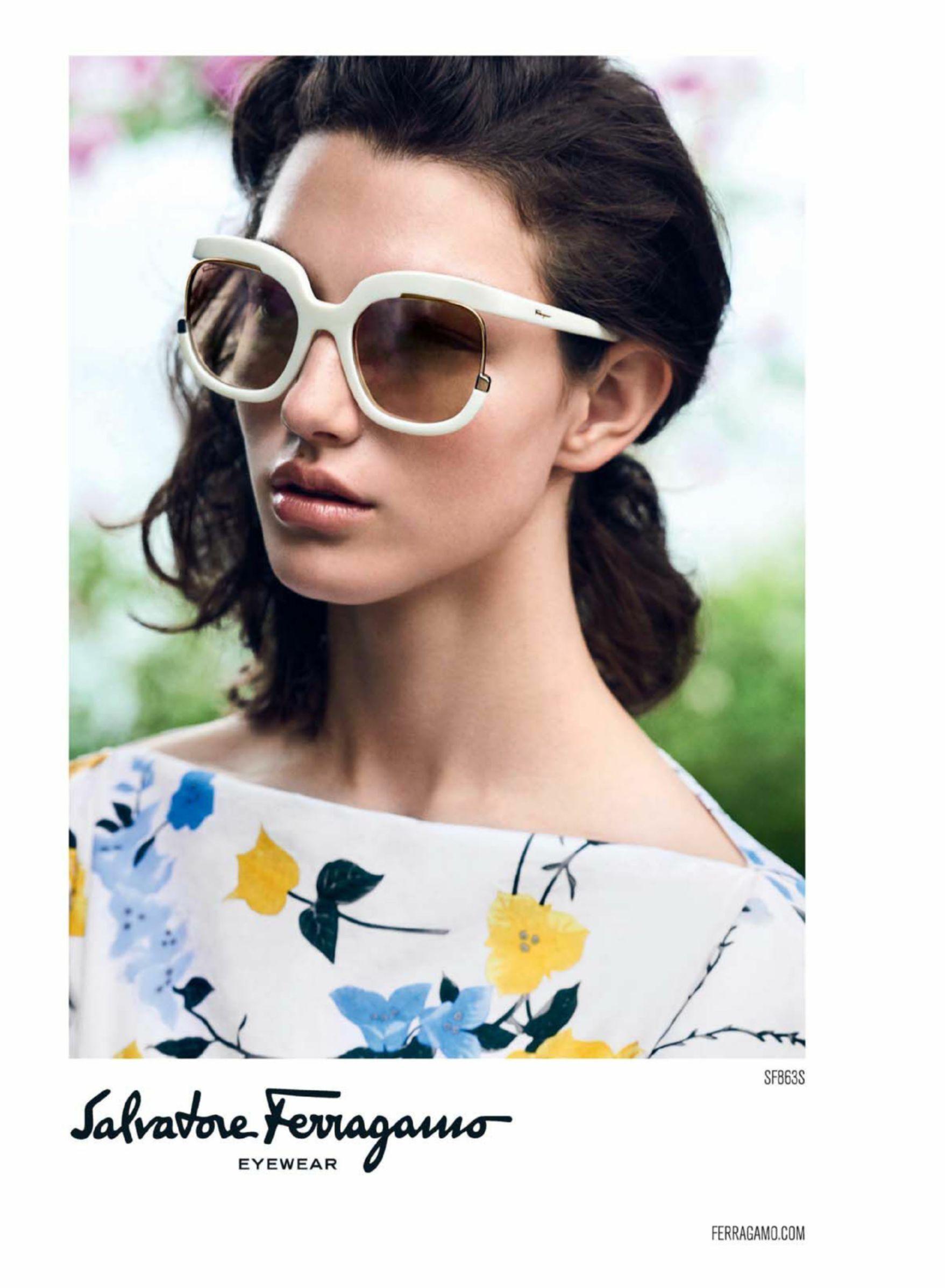 McKenna Hellam for Salvatore Ferragamo eyewear SS17
