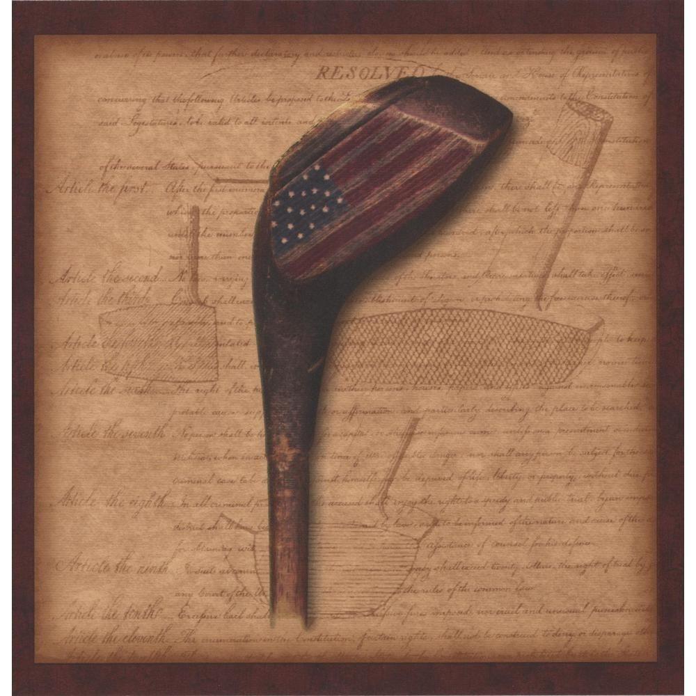 Chesapeake Golf Ball Teas Club with American Flag Brown