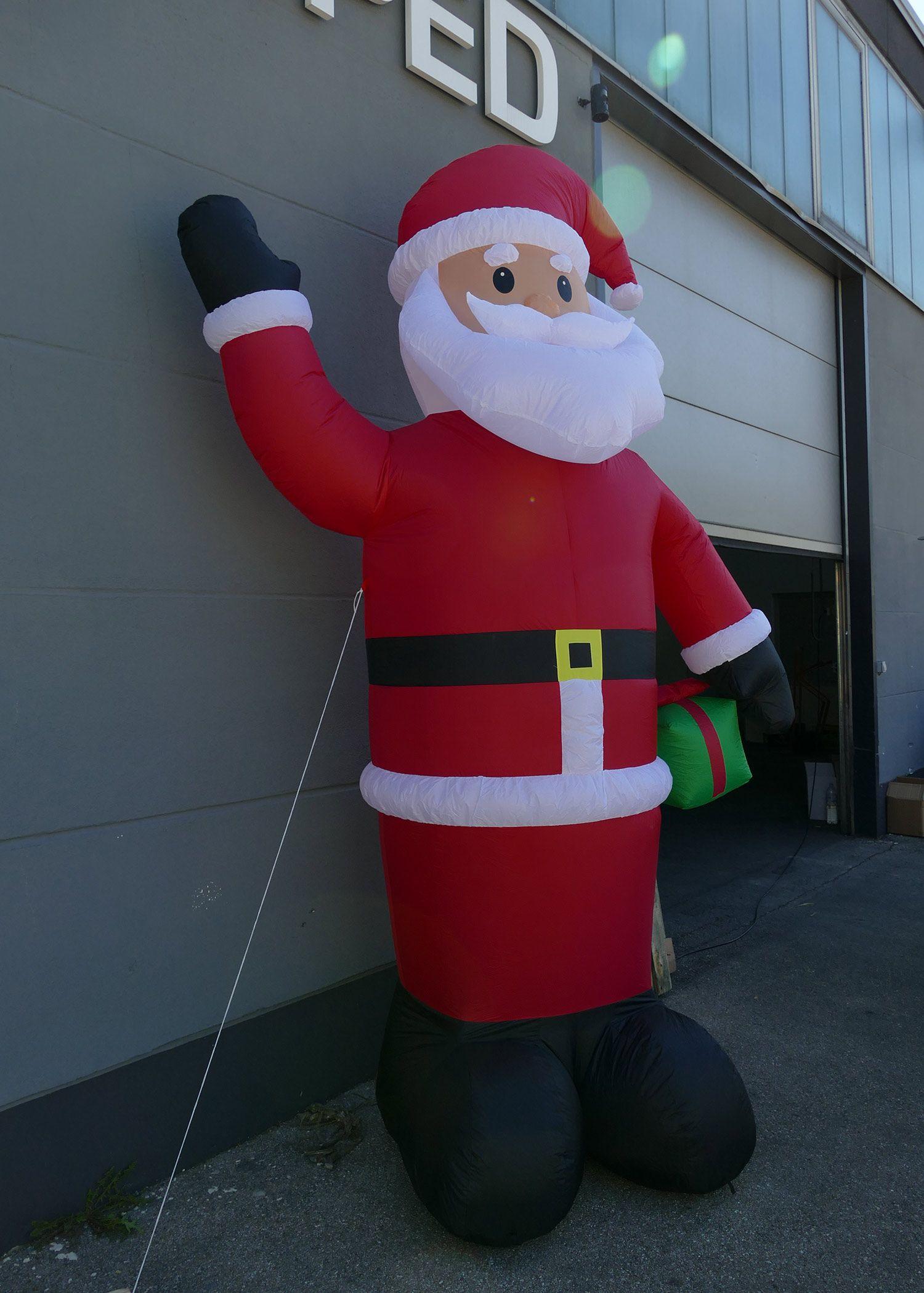 Xxl Weihnachtsmann 300 Cm Hoch Weihnachtsdekoration Für Markt