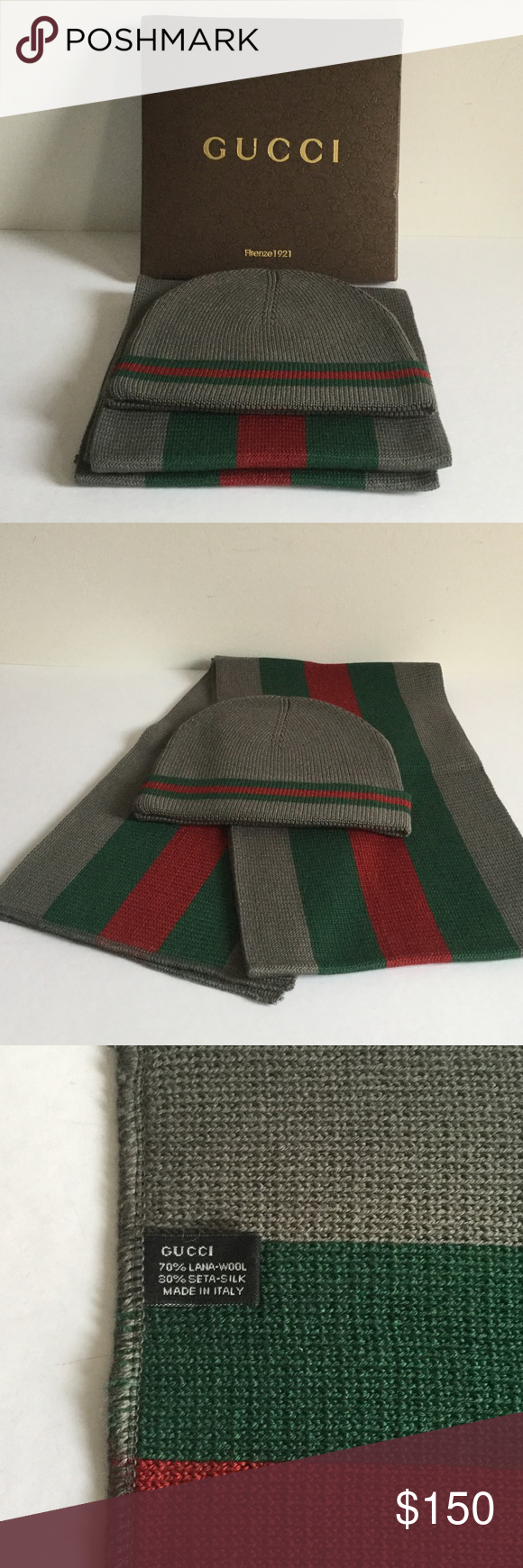 Gucci Hat   Scarf Set New in Box Sz XL This set was my Christmas ... b836585f640