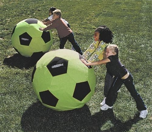 Spectrum Giant Neon Soccer Ball 36 Green By Spectrum 96 99 The Opportunities For Creative Play Are Endless Soccer Ball Soccer Summer Activities For Kids