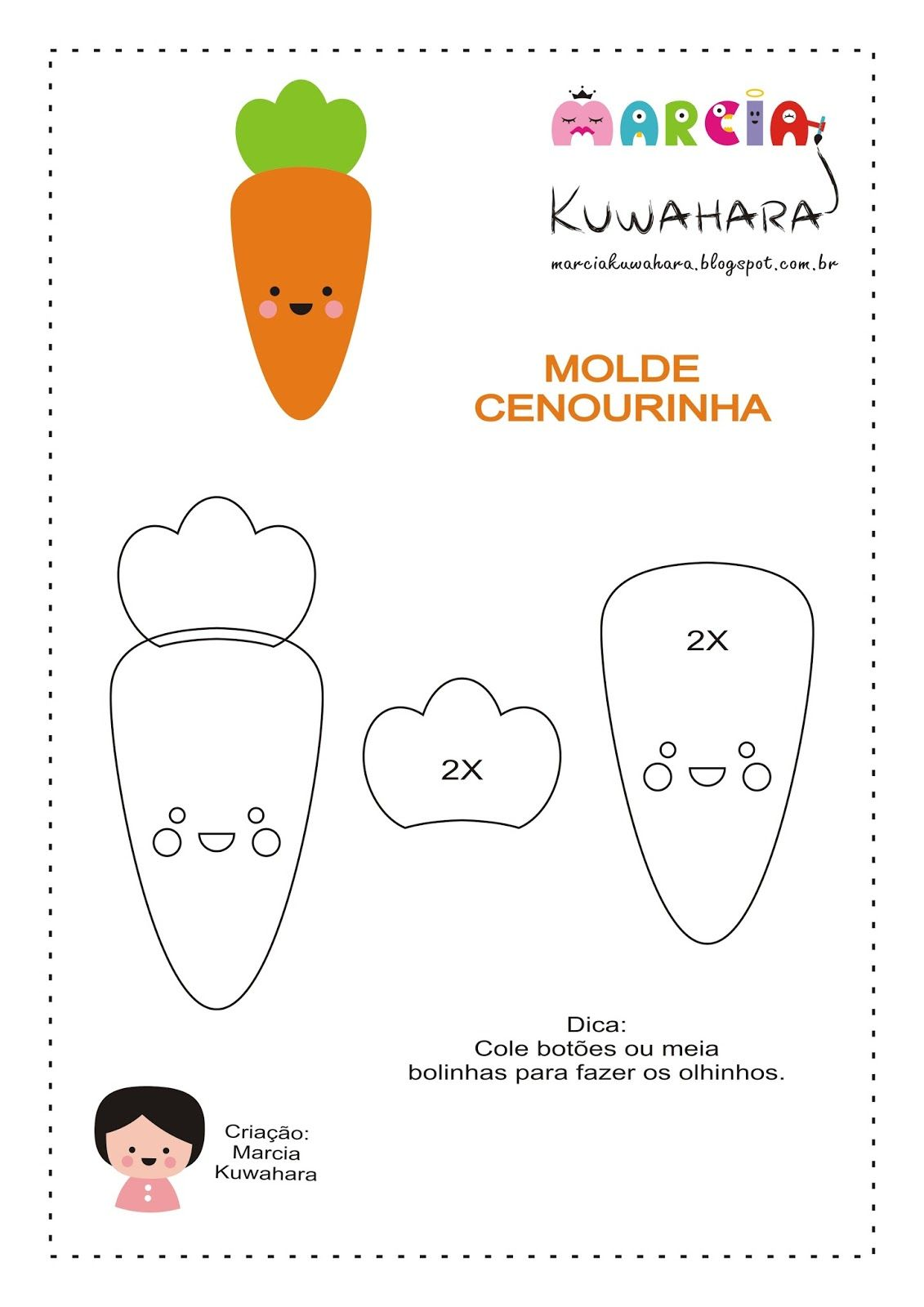 Marcia Kuwahara Molde Cenourinha Modelo De Livro Sensorial
