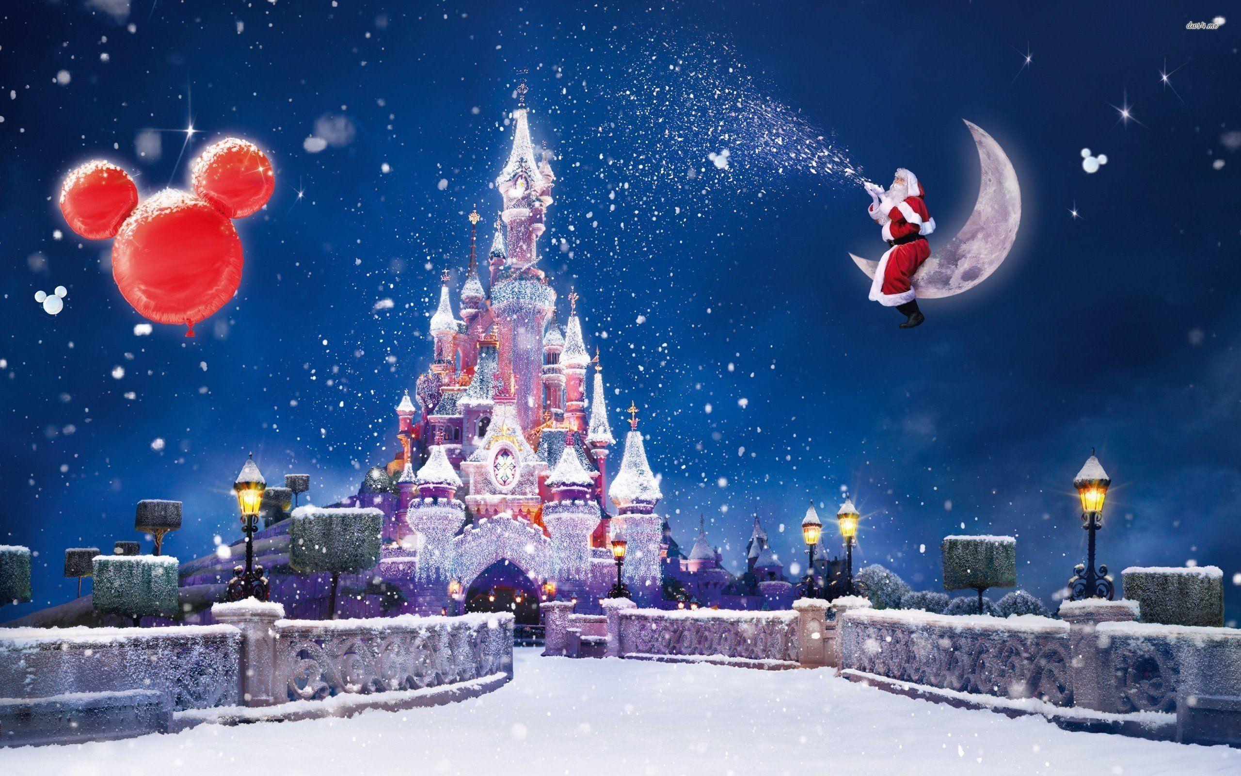 Disneyland Paris Christmas Wallpaper
