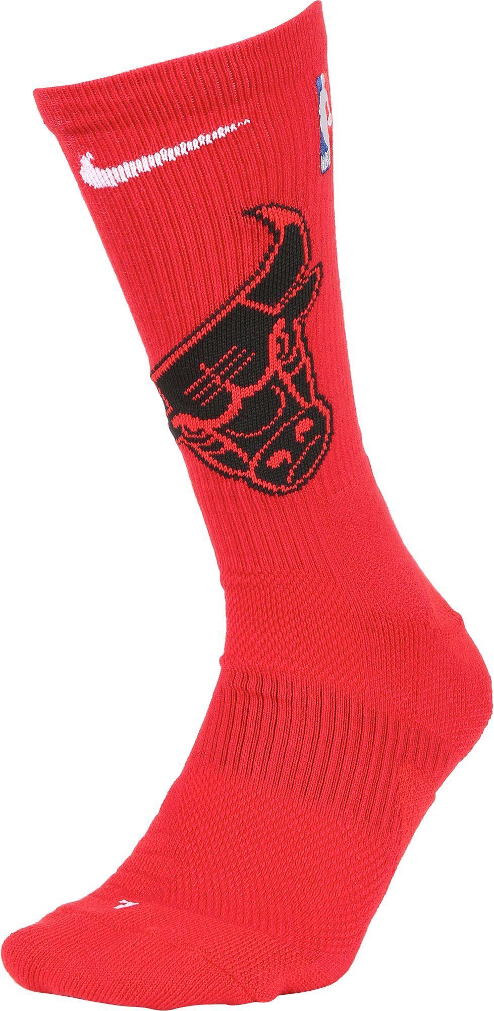 Nike Chicago Bulls Elite Crew Socks, Size: Medium, Team | Products ...