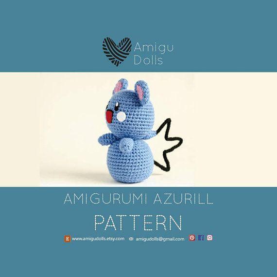 Amigurumi pattern pokemon, Azurill, pokemon pattern, pokemon crochet ...