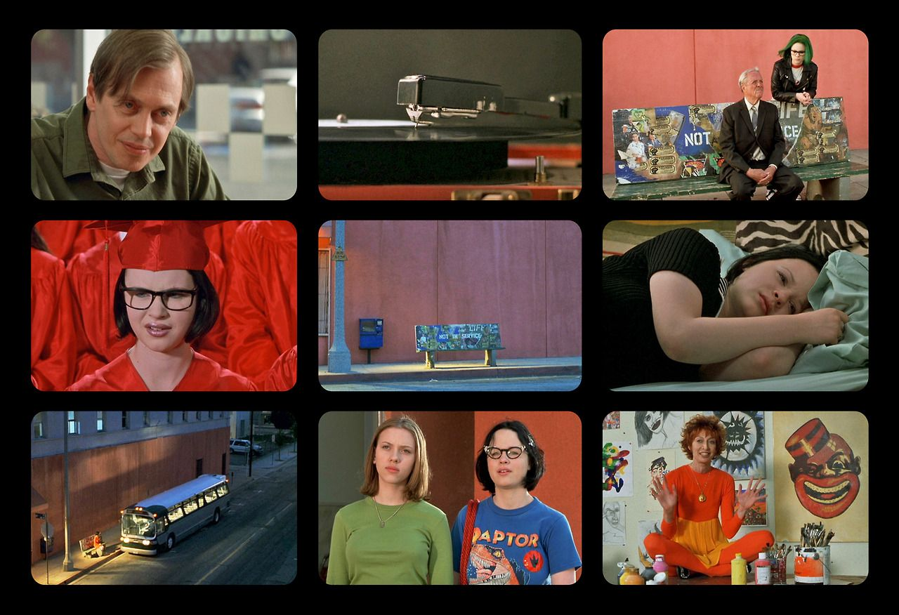 """Ghost World"" in 9 Frames http://9filmframes.tumblr.com/"