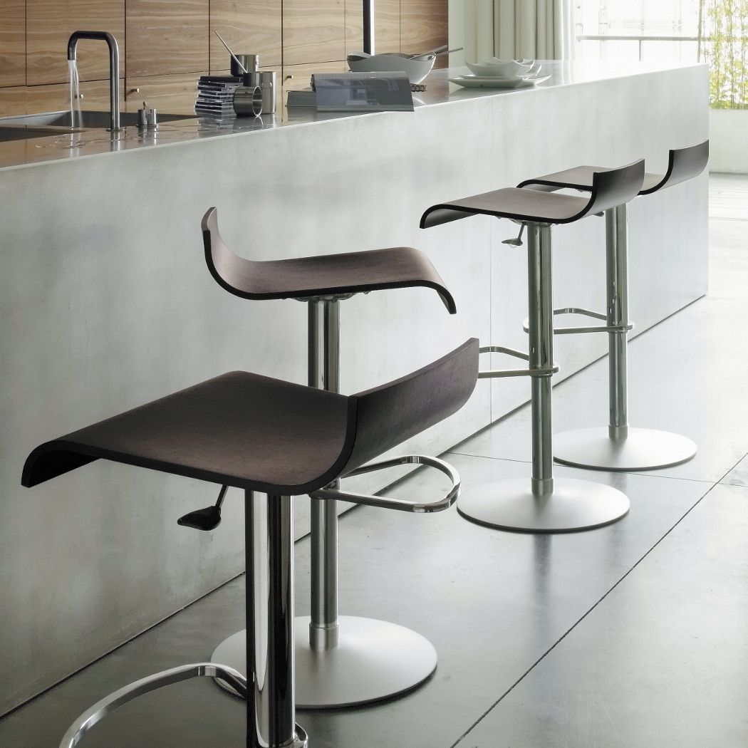 Island dining chair by ligne roset modern dining chairs los angeles - Ligne Roset Pam By C Dondoli M Pocci Adjustable Barstool With A Matte Chrome Base And Da Vinci Lifestyle World S Largest Furniture Group Over