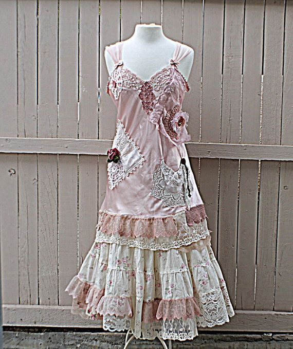 Dress Girl Shabby Chic Clothing Women's Gypsy Slip Romantic ZikXuP