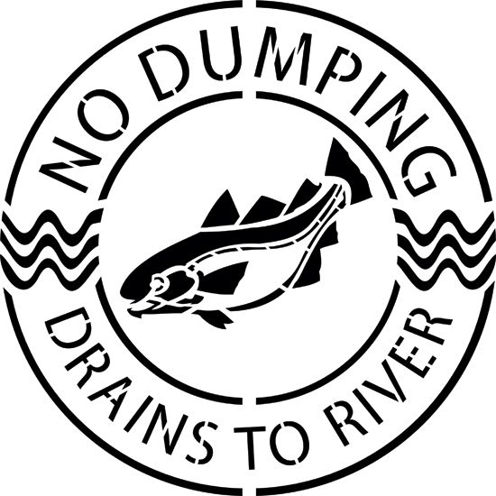 Storm Drain Stenciling Consists Of Stenciling A Message