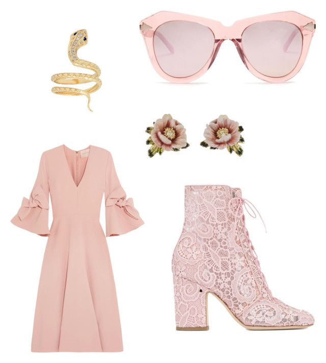 Pink AF by michelle-notter on Polyvore featuring polyvore, moda, style, Roksanda, Laurence Dacade, Les Néréides, Karen Walker, fashion and clothing