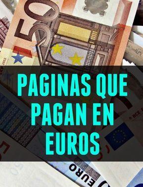 Paginas Que Pagan En Euros Show Me The Money Business Money Tool Design