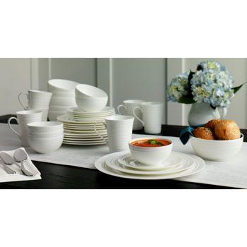 Mikasa Swirl White 36-pc Bone China Dinnerware Set  sc 1 st  Pinterest & Mikasa Swirl White 36-pc Bone China Dinnerware Set | dining room ...