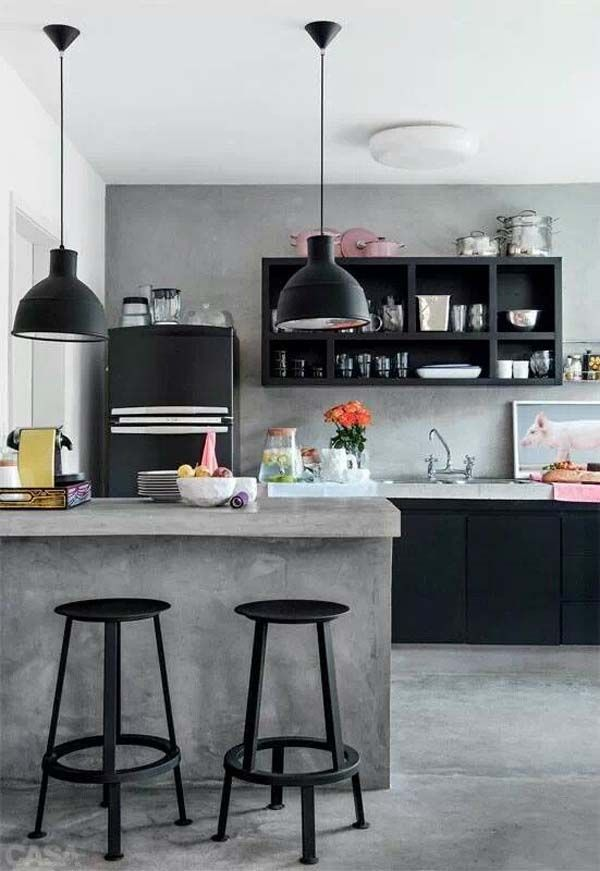 47 Incredibly Inspiring Industrial Style Kitchens Ide Dapur