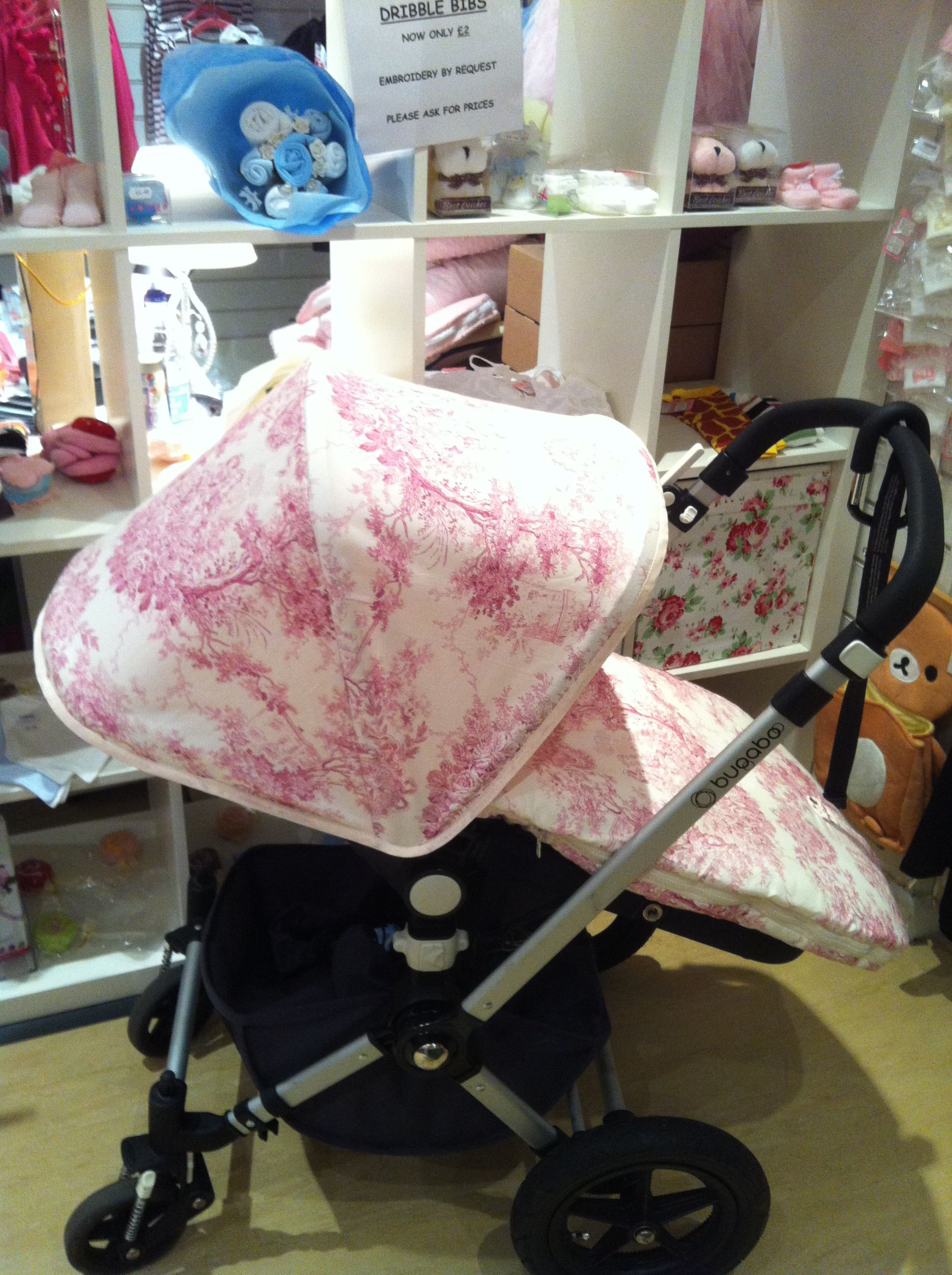 French toile pram set for Bugaboo Cameleon by Gemzdesignz