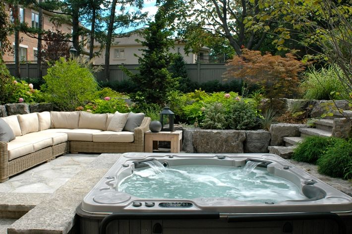 backyard patio ideas for small spaces on a budget with hot tub