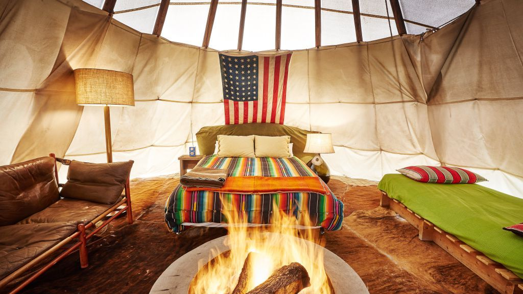 The New Glampground Inside One Texas Hotel S Shameless Cultural Appropriation Glamping Spots Small Luxury Hotels Marfa