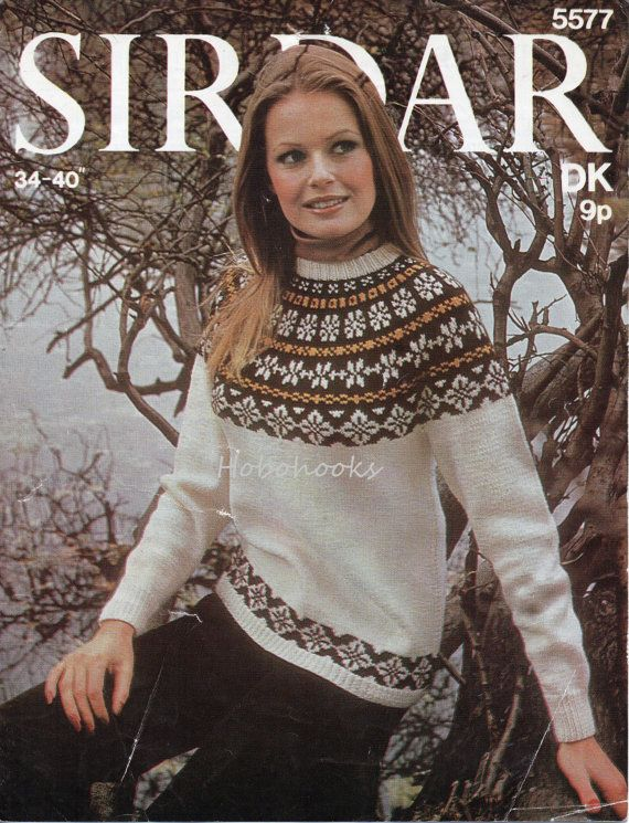 Womens Knitting Pattern Ladies Fair Isle Sweater by Hobohooks ...