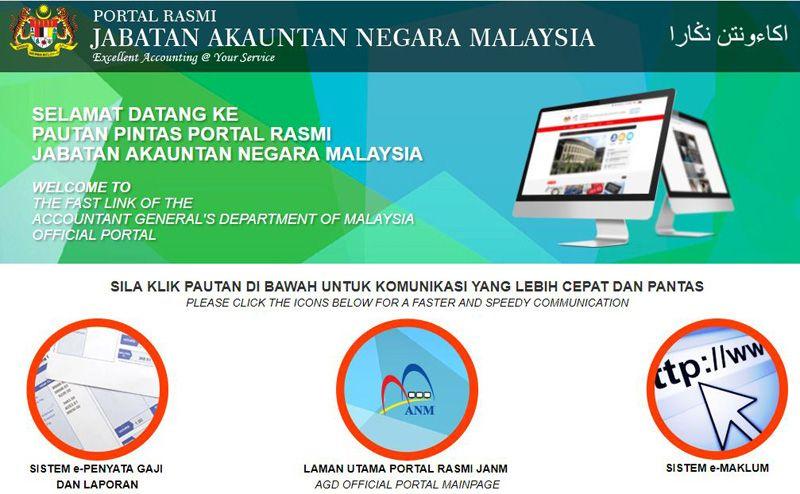 E Penyata Gaji Dan Laporan Merupakan Perkhidmatan Atas Talian Yang Disediakan Oleh Jabatan Akauntan Negara Malaysia Secara Percuma Dan Finance Map Screenshot