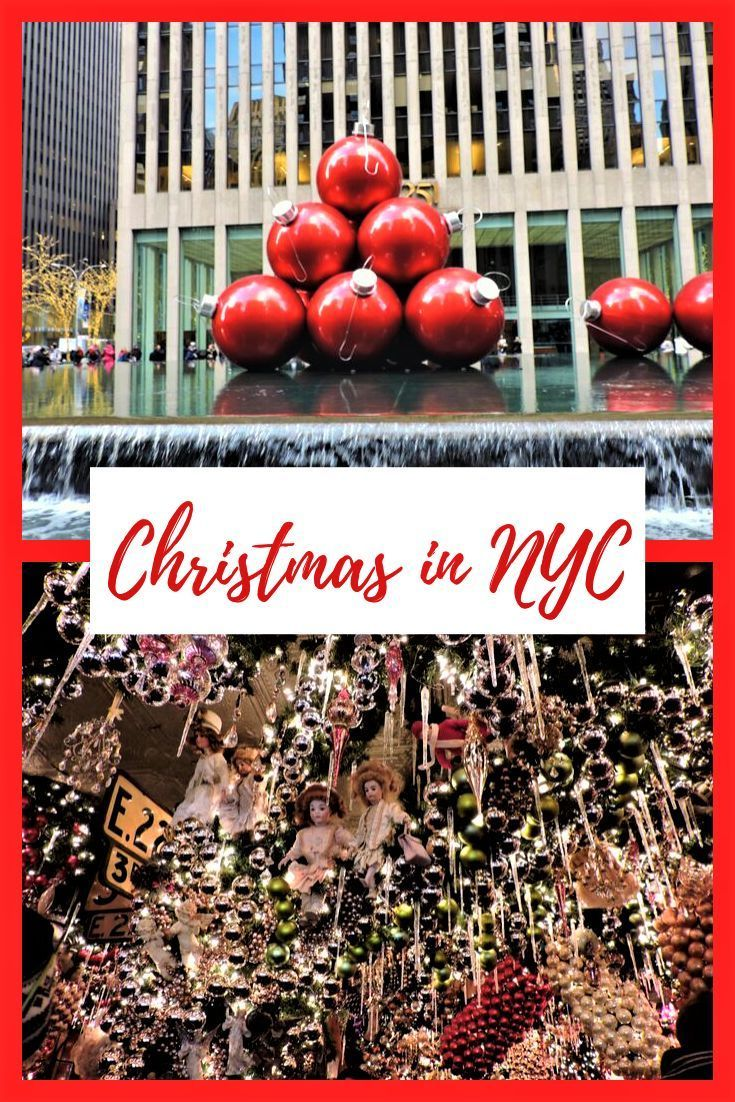 New York City is one of the best places to visit around Christmas time. Here are some of the best things to do during Christmas in NYC. #christmas #nyc #christmasinnyc