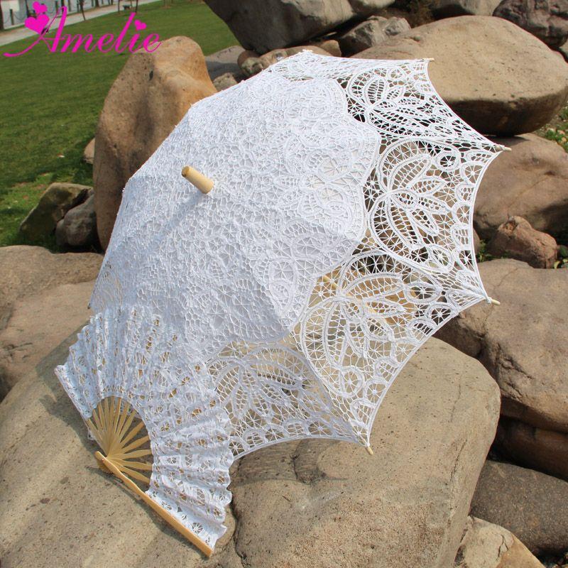 Ücretsiz kargo dantel fan ve düğün Şemsiye dantel Şemsiye