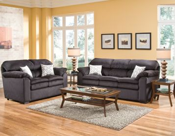 Broadway Living Room Group Group Includes: Sofa Loveseat Coffee Table 2 End  Tables 2 Lamps Part 95