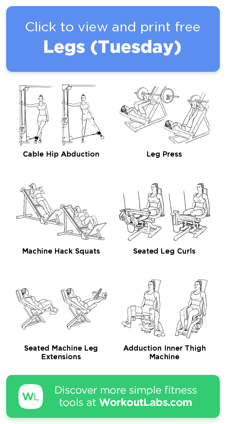 Legs (Tuesday) · Free workout by WorkoutLabs Fit