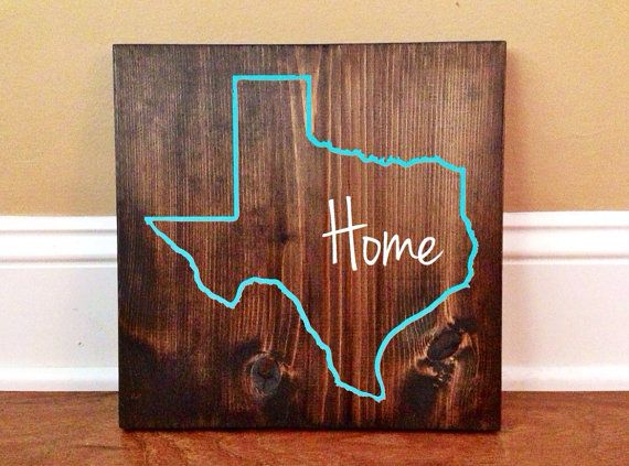 Bathroom Sign Texas Mall texas custom wood sign, texas state sign, stained and hand painted