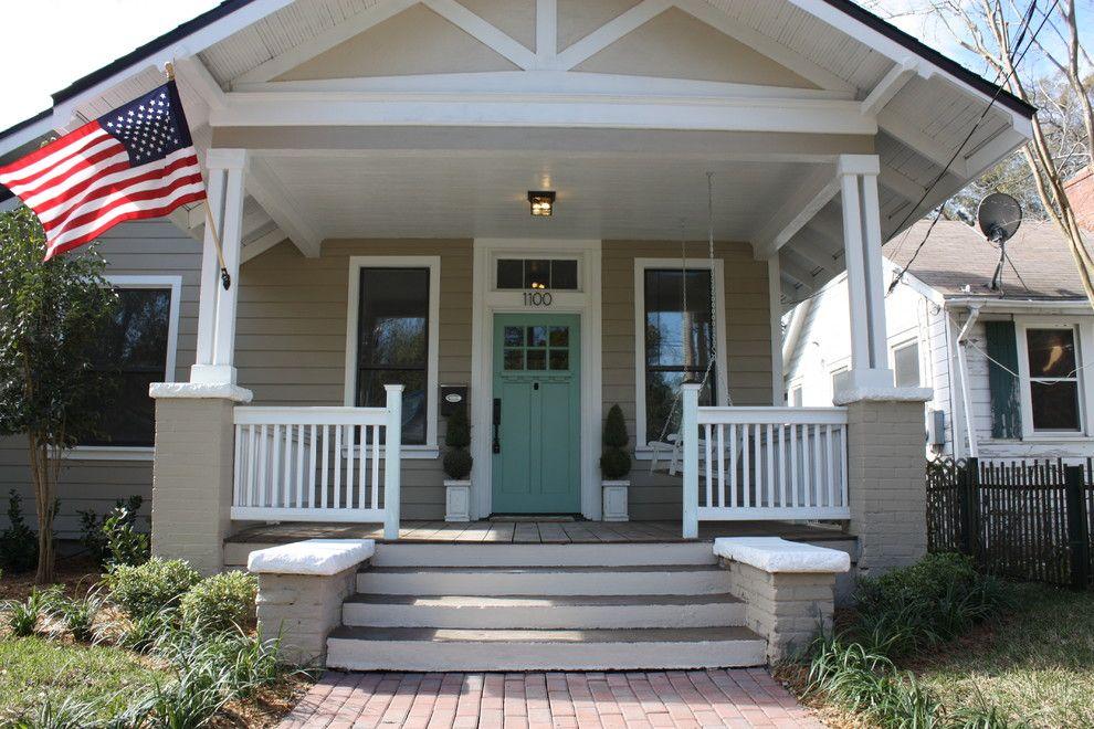 Concrete front porch ideas porch craftsman with porch columns ...