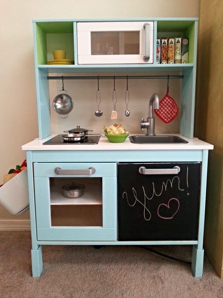 upgraded ikea duktig play kitchen deko diy. Black Bedroom Furniture Sets. Home Design Ideas