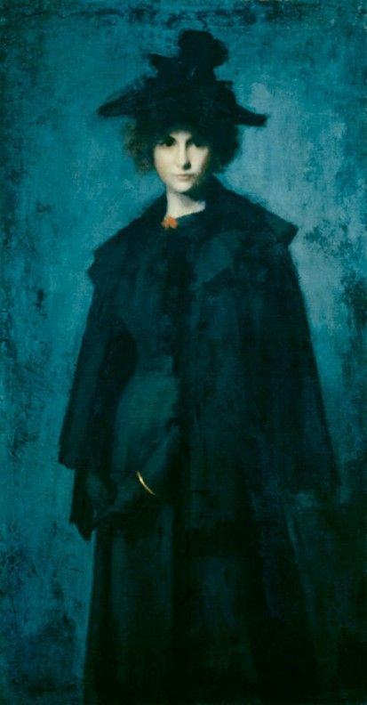 ▴ Artistic Accessories ▴ clothes, jewelry, hats in art - Jean Jacques Henner | Portrait of Madame Laura Leroux