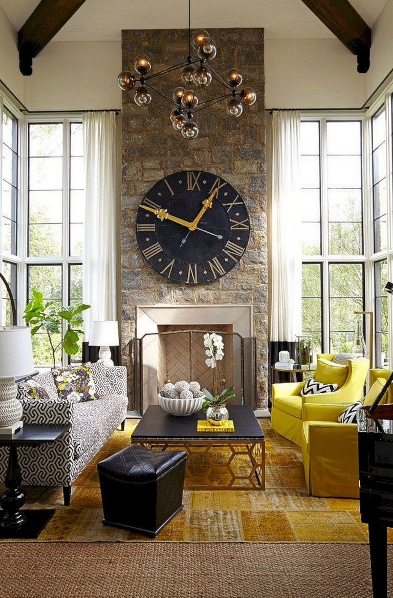 25+ Gorgeous Living Room Wall Decor with Clocks Ideas # ...