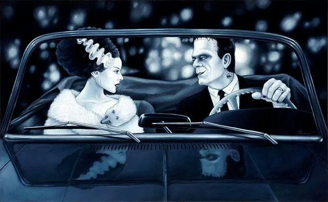 Pin By Vexing Vivi On All Hallow S Eve Frankenstein Frankenstein Art Bride Of Frankenstein