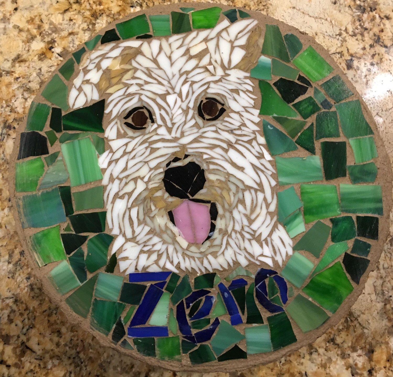 Custom Order Pet Portrait Mosaic Stepping Stone Etsy In 2020 Mosaic Animals Mosaic Pet Portraits