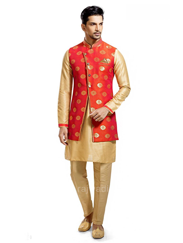 Silk fabric indo western rajwadi indowestern trendy mensfashion
