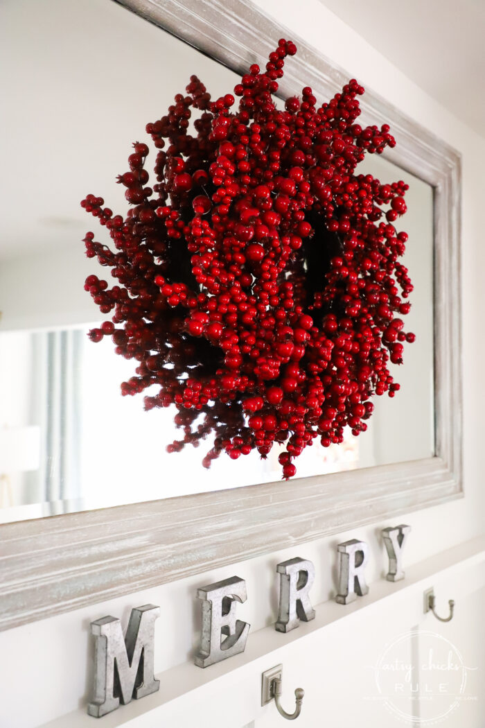 Traditional Red Cozy Christmas Decor (morning room and kitchen)