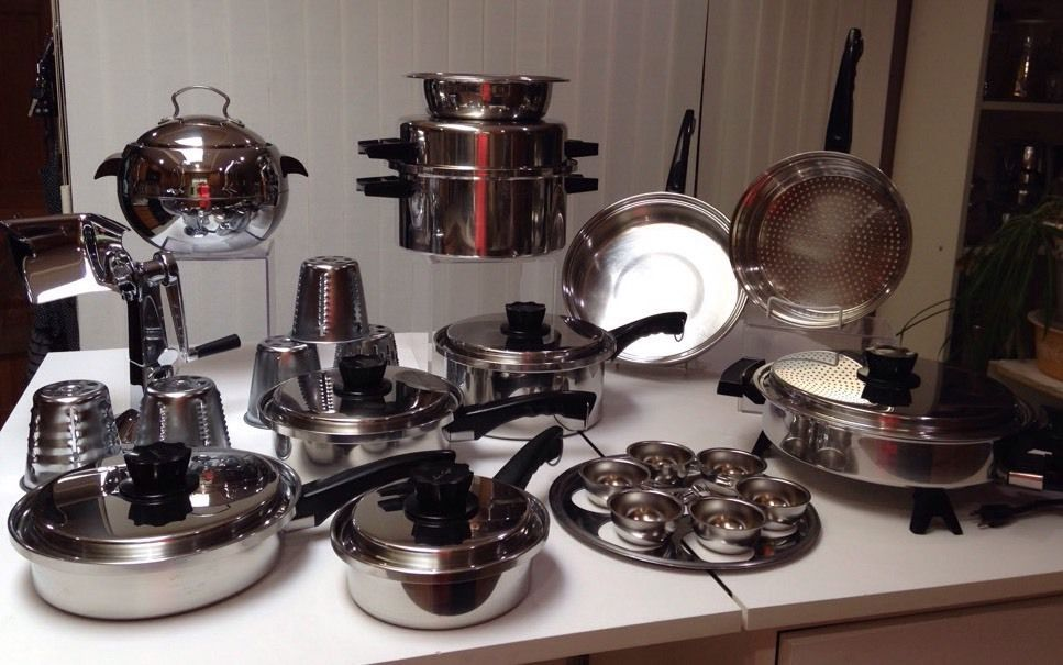 30pc Lustre Craft West Bend Cookware Set Stainless Oil Core