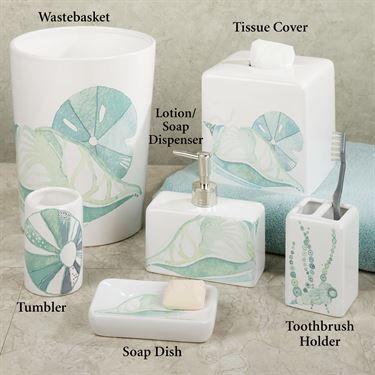 La Mer Lotion Soap Dispenser White Nautical Bathroom Decor
