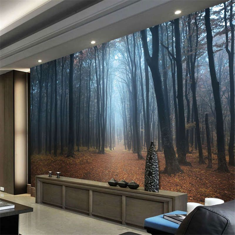 Details about Black Forest Germany Night Full Wall Mural
