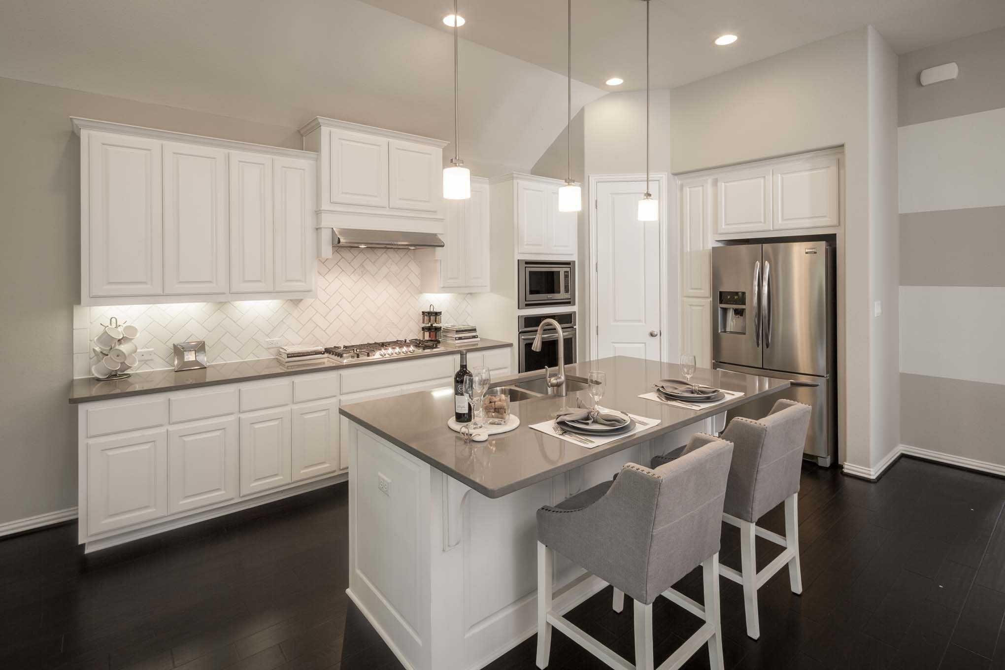 Highland Homes Plan 204 Model Home In Austin Texas Palmera Ridge Beauteous New Model Kitchen Design Design Ideas