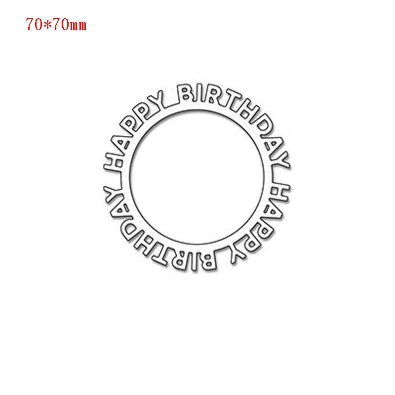 Günstige Happy Birthday Kreis Rahmen metall stanzen schaffen ...