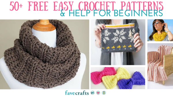 50 Free Easy Crochet Patterns And Help For Beginners Pinterest