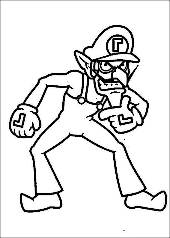 Mario Bross Ausmalbilder. Malvorlagen Zeichnung druckbare